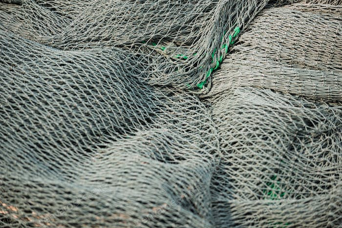 Fishing nets close-up background