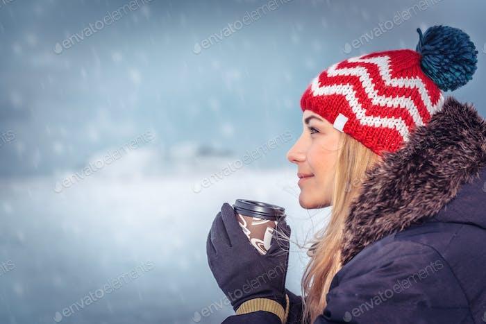 Enjoying winter holidays
