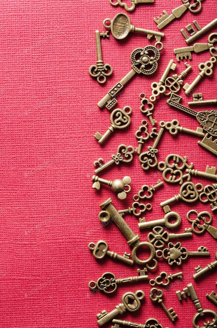 Steampunk alten Vintage-Metallschlüssel Hintergrund