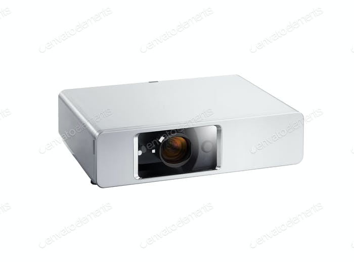 Multimedia projector isolated on white background