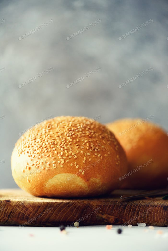 Sliced freshly backed bread. Handmade brown loaf of bread, bakery concept, homemade food, healthy