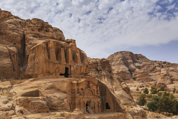 Petra, ancient city curved out of sandstone in Jordan