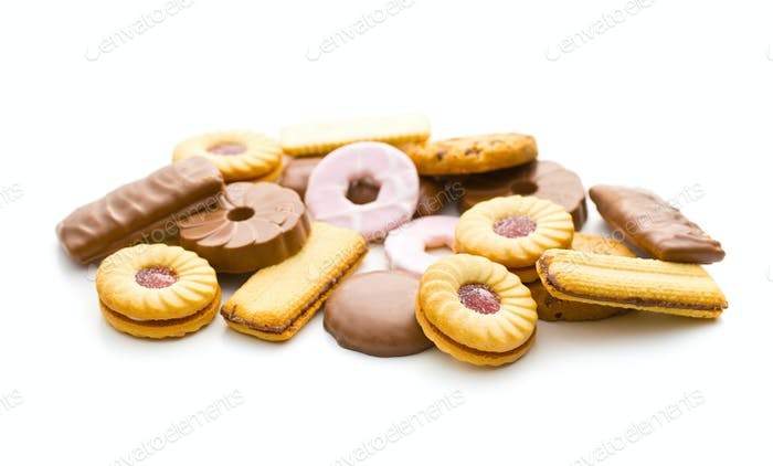 Various sweet biscuits.