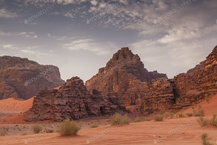 Amazing views of the Wadi Rum desert. Jordan