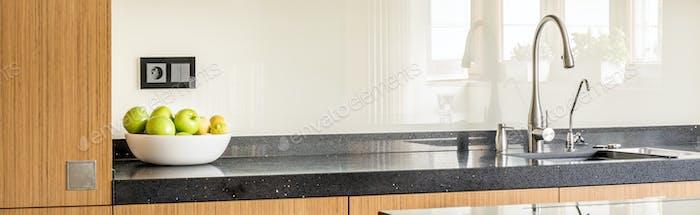 Worktop of modern kitchen