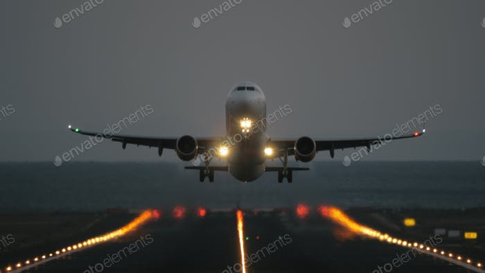 Take off at dawn