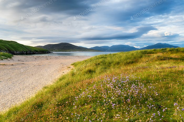 Summer evening at Traigh Niosaboist beach