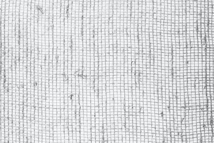 Burlap fabric black and white texture