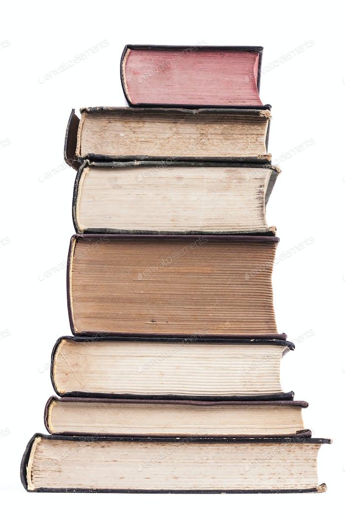 Isolierter Haufen Bücher