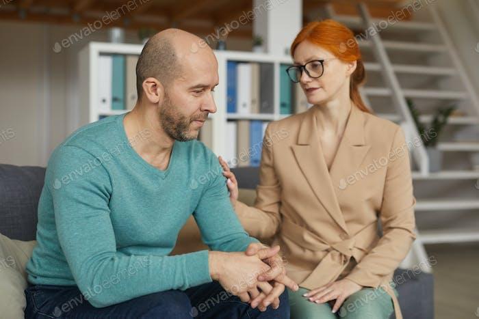 Man visiting psychologist