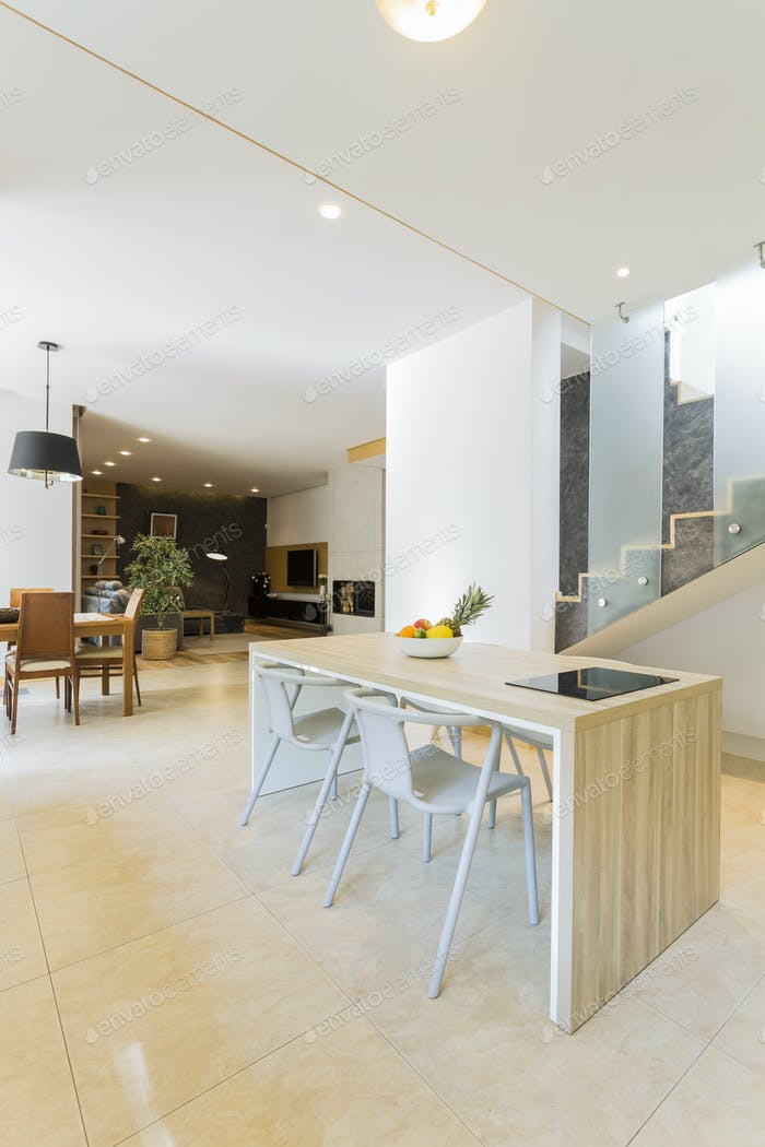 Modern open space in house