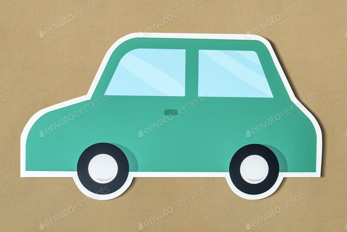 Car for transport icon isolated