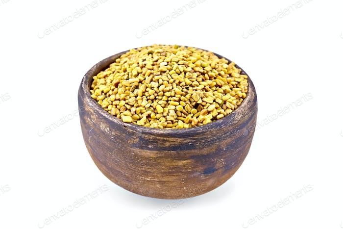 Fenugreek in bowl