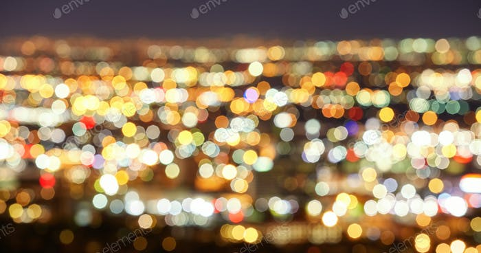 Blurred city lights, abstract urban background