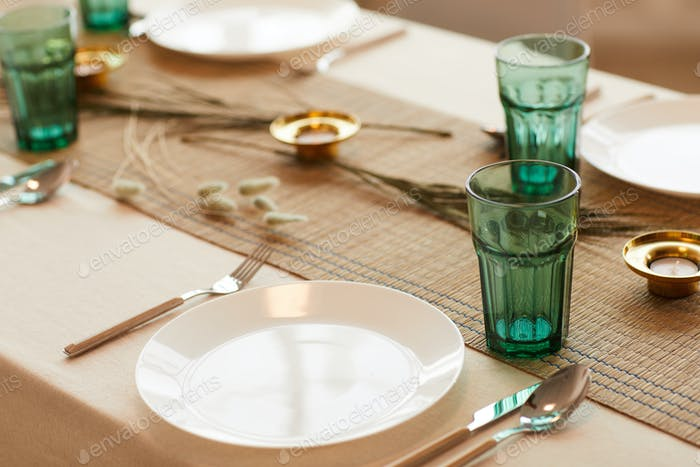 Elegant Table Setting Background