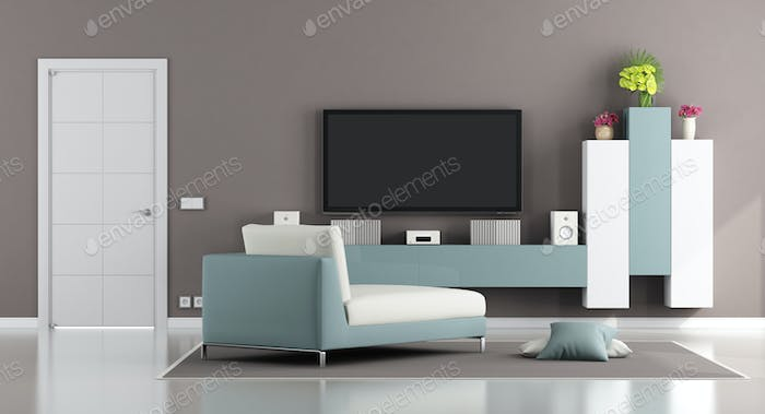 Modern Living Room With Tv Photo By Archideaphoto On Envato Elements