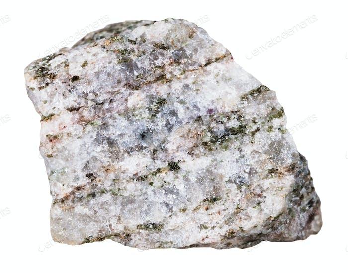 Apatit Mineralstein isoliert auf weiß