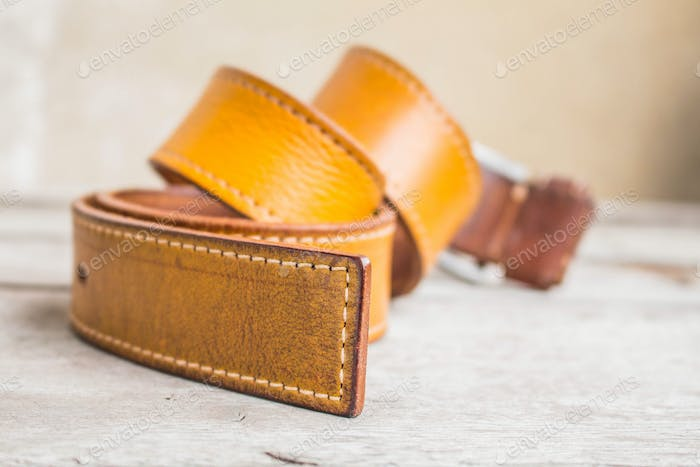 belt on the wooden