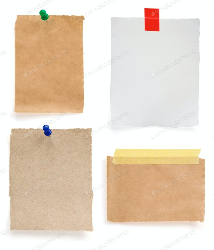 ragged note paper