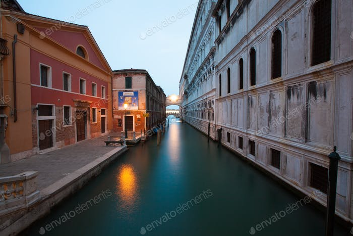 Moonlit Canal in Venice