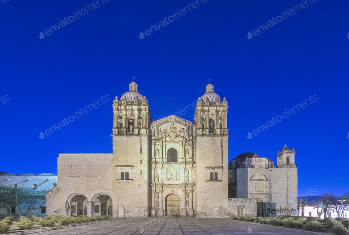 Santo Domingo church under blue sky, Oaxaca, Oaxaca, Mexico