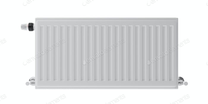 Radiator isolated cutout, white background. 3d illustration