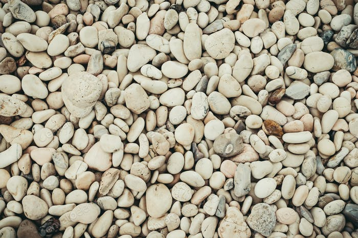 Closeup pebble stones texture
