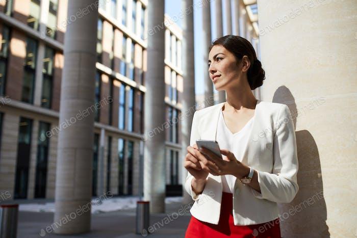 Beautiful Businesswoman in Sunlight
