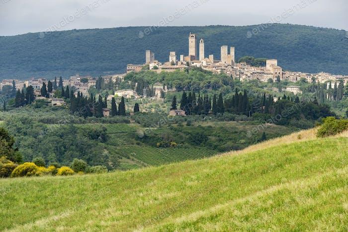San Gimignano, Tuscany, panoramic view
