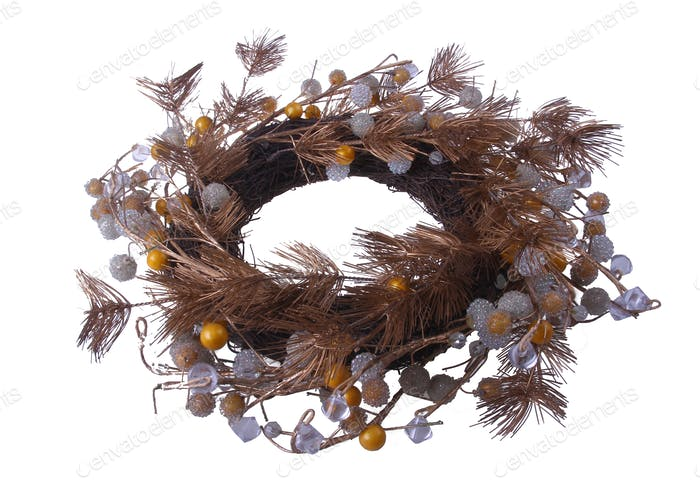 Artificial Twig Wreath isolated