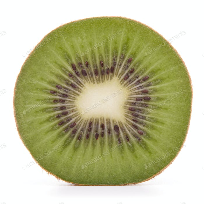 In Scheiben geschnittene Kiwi Hälfte