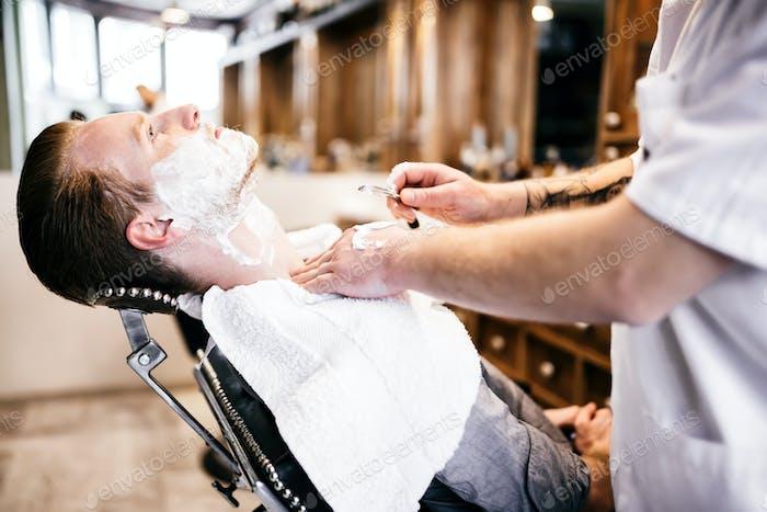 Male in barber shop