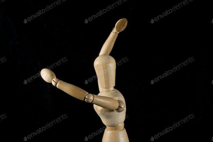 dancing puppet closeup