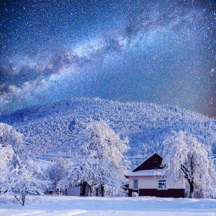 Sternenhimmel in einem fantastischen Silvester