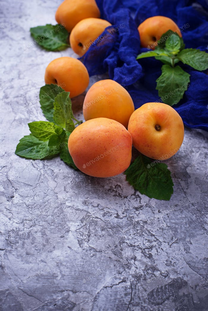 Sweet juicy apricots