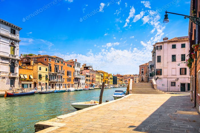 Venice water canal in Cannaregio. Italy