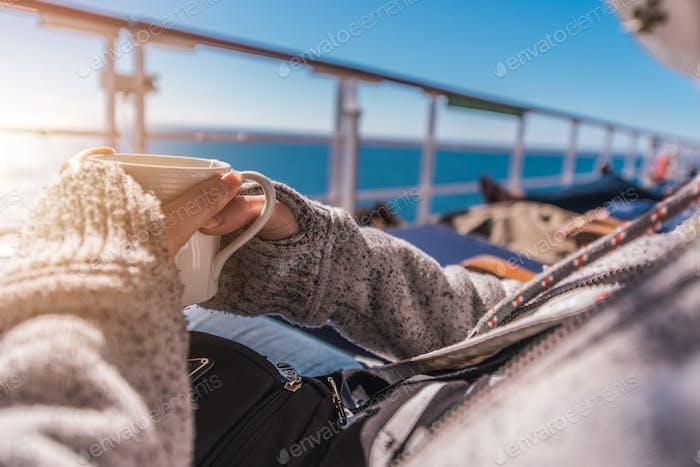 Cruise Ship Deck Hot Tea