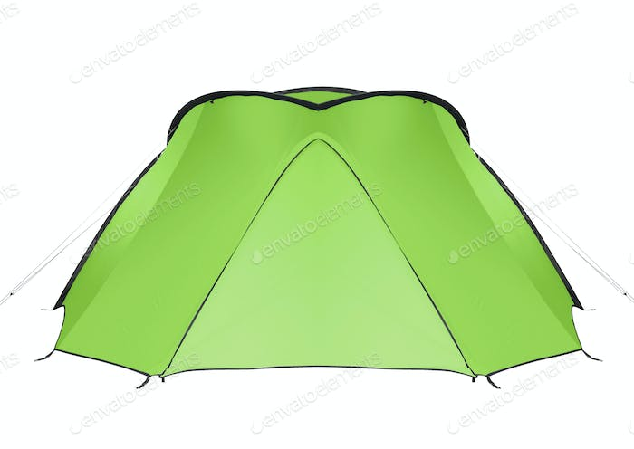 green tent isolated