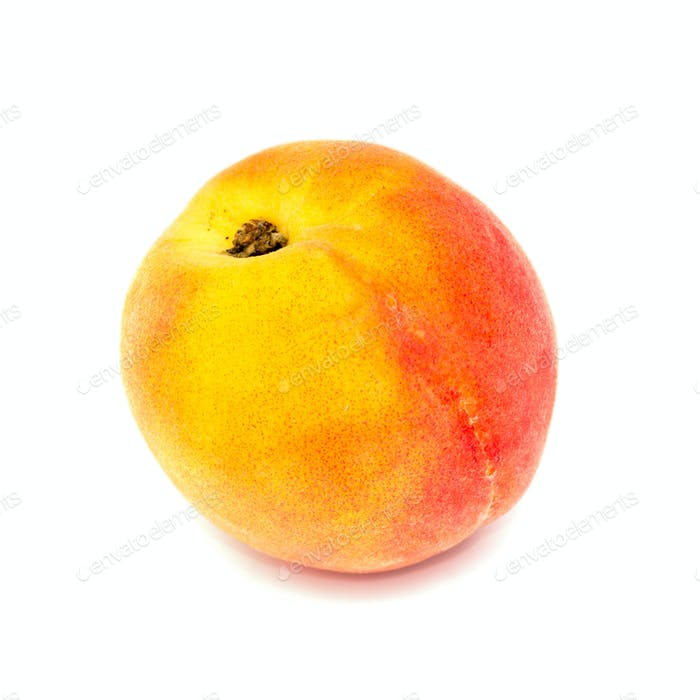 Ripe peach isolated on a white
