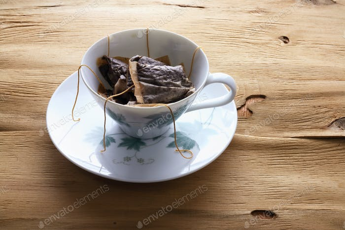 Cup and Saucer with Teabags