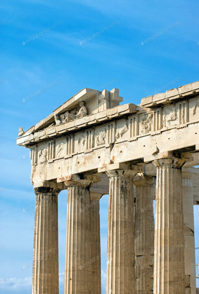 Part of the Parthenon in Athen