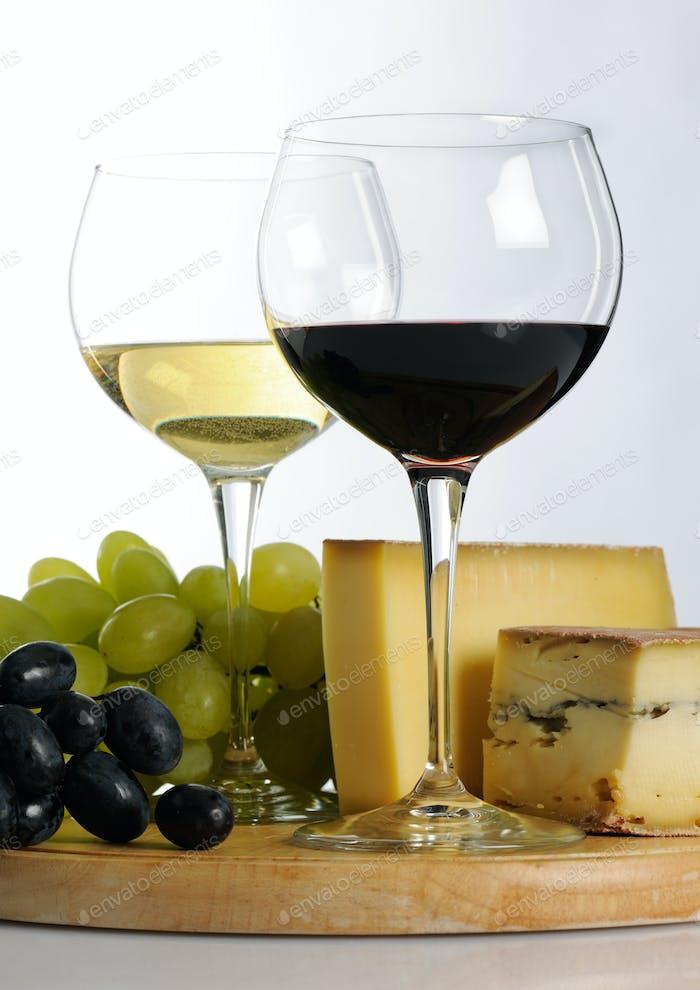 Stillleben mit Wein