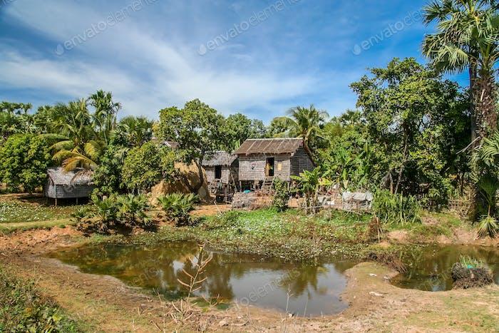 Village hut in Cambodia