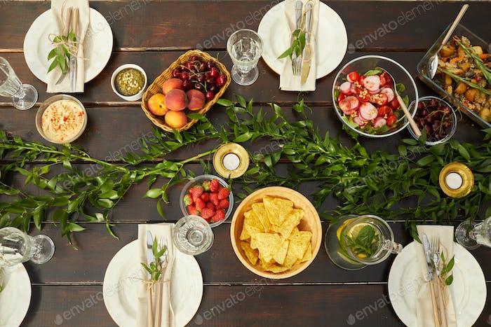 Gourmet-Abendessen im Freien
