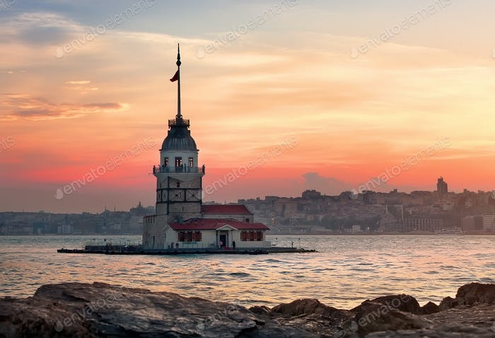 Maiden Tower in Bosphorus