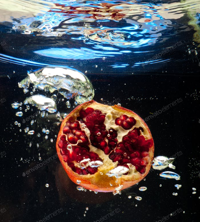 Garnet in the water