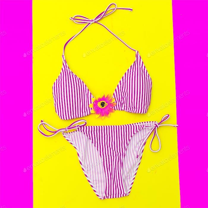 Vacation Fashion. Stylish Swimsuit for Lady