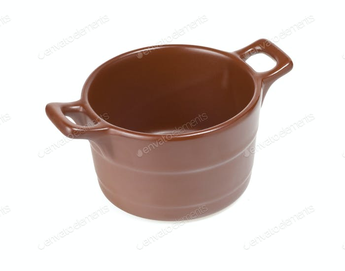 ceramic pot isolated on white