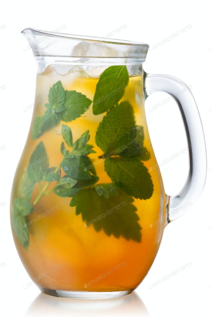 Iced herbal tea jug, paths