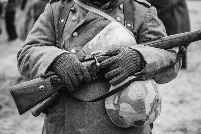 German Military Ammunition Of A German Wehrmacht Soldier At Worl